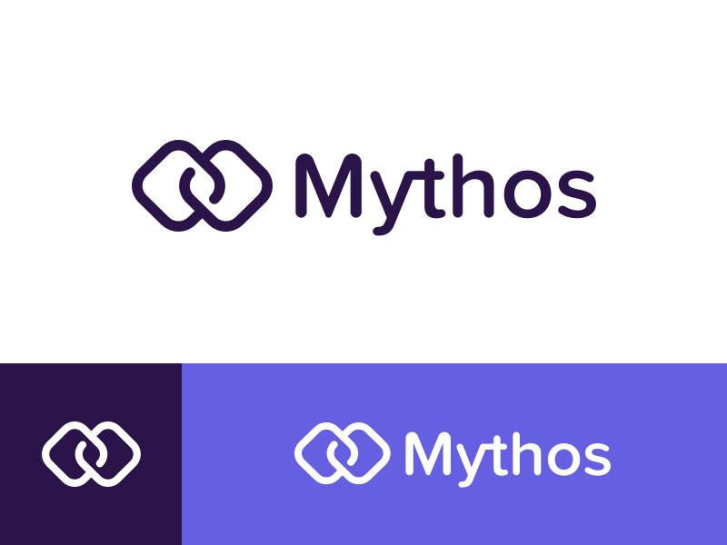 Mythos Logo brand identity logo money transfer coin start up ico cryptocurrency crypto blockchain