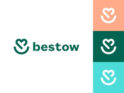 Bestow Logo line art life heart life insurance brand guide icon brand identity brand logo