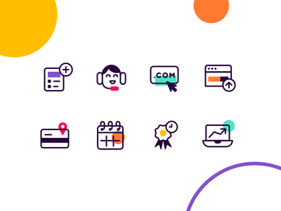 Icons! illustrator illustration icon set line art brand identity brand iconography icon icons