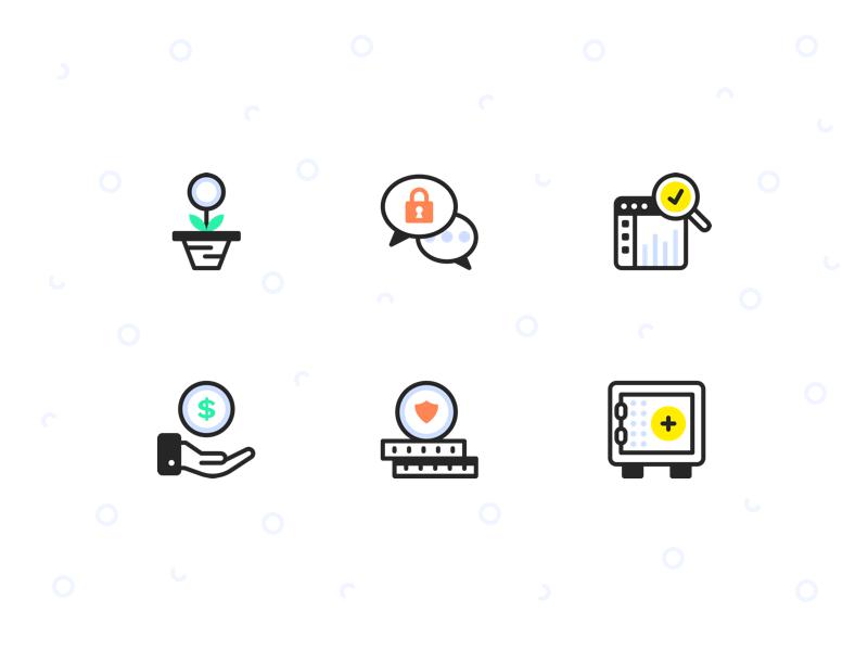 High Contrast Icon Set illustrator illustration icon set line art brand identity brand iconography icon icons