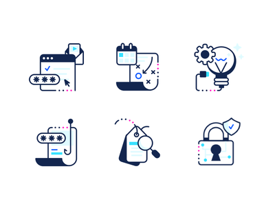 Compliance Icons illustrator illustration icon set line art brand identity brand iconography icon icons