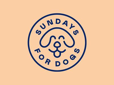 Sundays for Dogs 🐶 illustration start up brand identity brand logo line art seal dog food dog badge