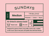 Sundays Clothing Tag