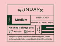 Sundays Clothing Tag