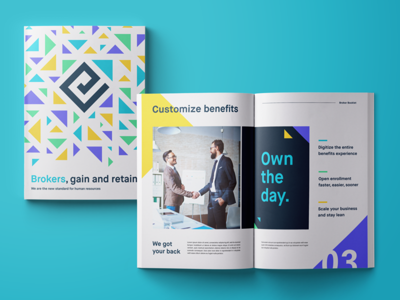 Broker Booklet 🚀 collateral logo brand assets materials sales broker booklet illustration brand identity brand agency branding