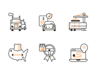 Auto Transport Icons