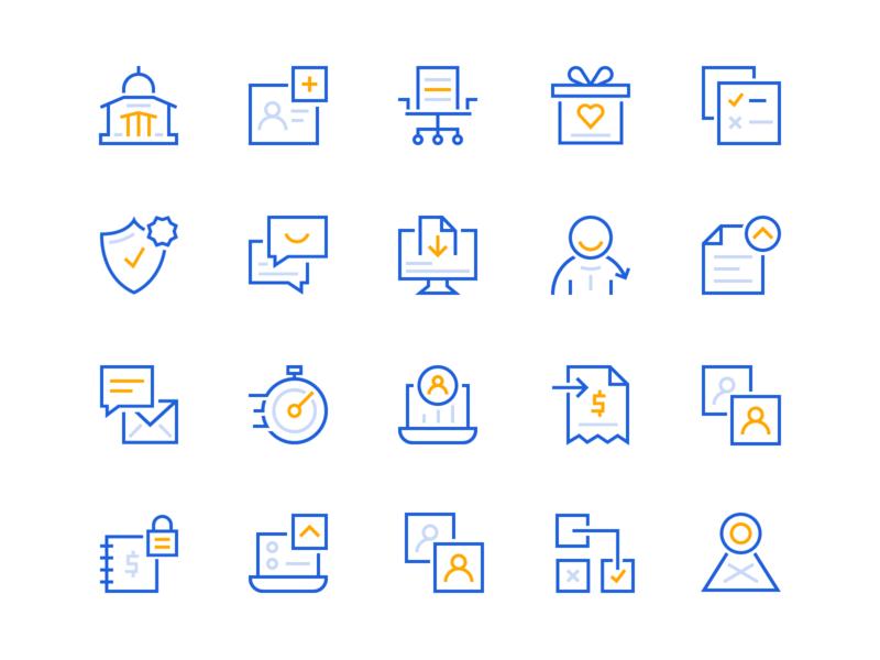 HR Icon Set benefits hr brand designer iconography icon brand identity branding illustration