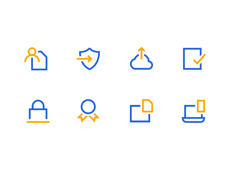 Minimal Icon Set landing page website web design brand and identity brand designer brand benefits hr illustration iconography icons set icons