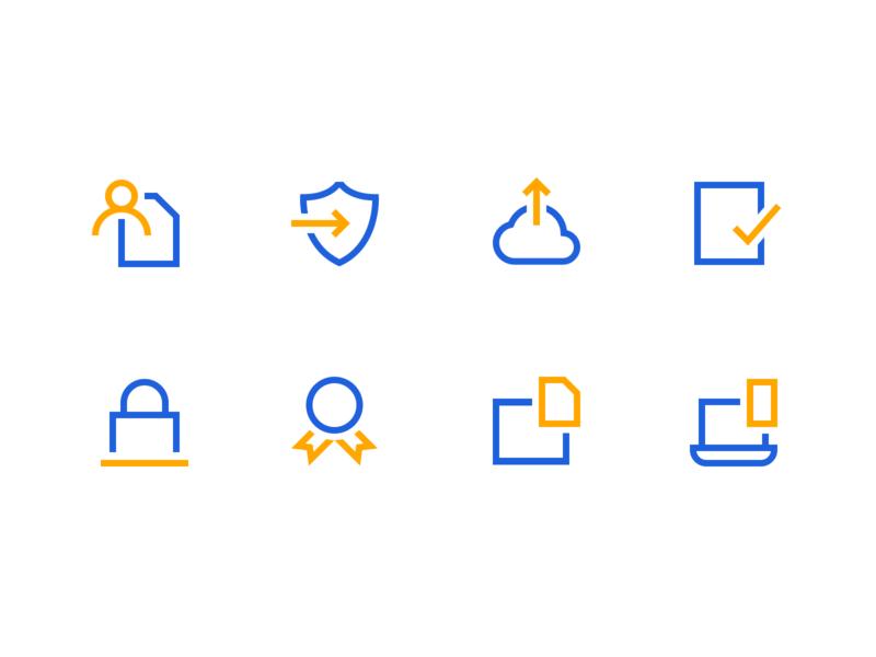 Minimal Icon Set landing page website web design brand and identity brand designer brand benefits hr illustration iconography icons set icons