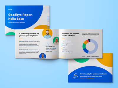 Ease Booklet benefits hr brand designer branding brand print collateral brochure broker booklet