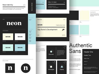 Neon Brand Identity Concept brand identity brand book product studio product brand designer brand studio branding brand