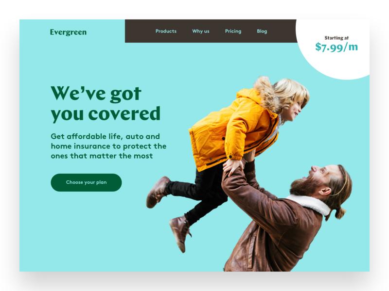 Evergreen startup website designer brand designer website landing page typography brand brand identity branding
