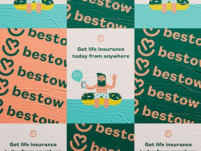Bestow Rebrand brand design brand designer brand webdesign life insurance modern typography logo brand identity branding illustration