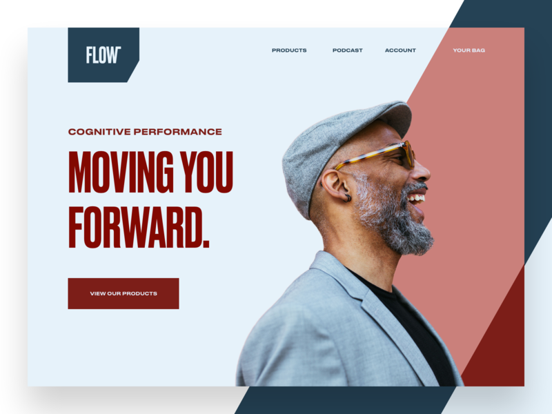 Flow Landing Page lifestyle brand lifestyle store supplements modern ui type website landing page typography brand brand identity branding