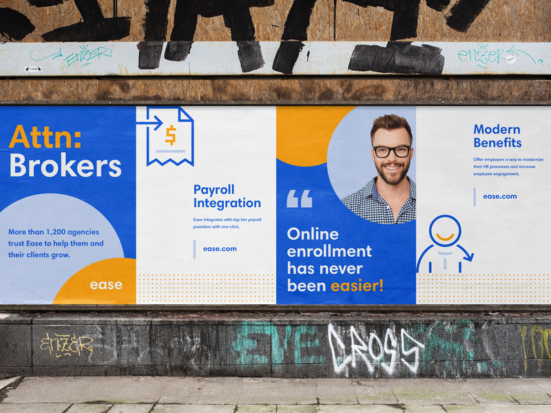 Ease Posters healthcare broker tech modern icons logo icon brand brand identity branding