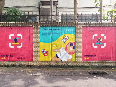 Taab Posters brand brand identity branding illustration
