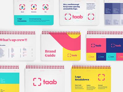 Taab Brand Guide brand designer brand agency brand guidelines brand and identity brand guide logo typography brand brand identity branding illustration