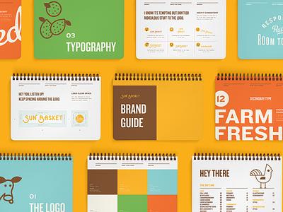 Sun Basket Brand Guide styleguide guidelines brand guide booklet book typography brand brand identity branding