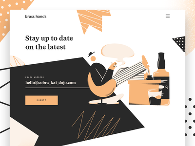 Brass Hands - Newsletter design studio design ui modern website landing page typography brand illustration brand identity branding