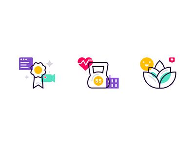 Product Icons illustrator product icons line art icon set iconography brand designer brand design modern website landing page icons icon brand brand identity branding illustration