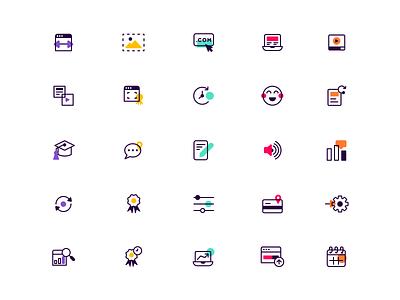 Icon Set modern product lineart icons iconography icon set b2c saas b2b website brand icon brand identity branding illustration