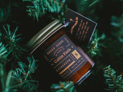 Cabin Feels brand identity branding agency brand branding design branding candle packaging labels label