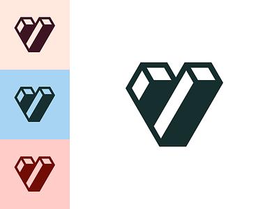 V Logo Mark brand agency branding logo designer brand identity brand consumer fintech v logo mark logo design logo