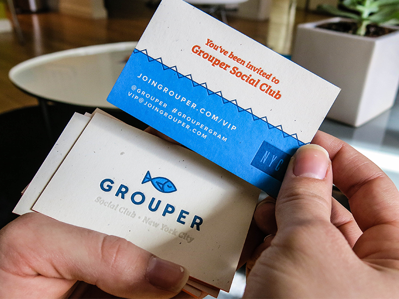 Grouper Business Card mamas sauce edge painting grouper sf printing business cards la social club paper business cards french paper nyc new york city letterpress