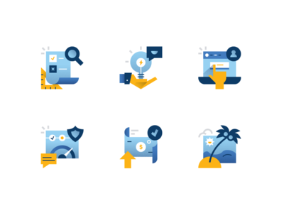 Fin Tech Icon Set