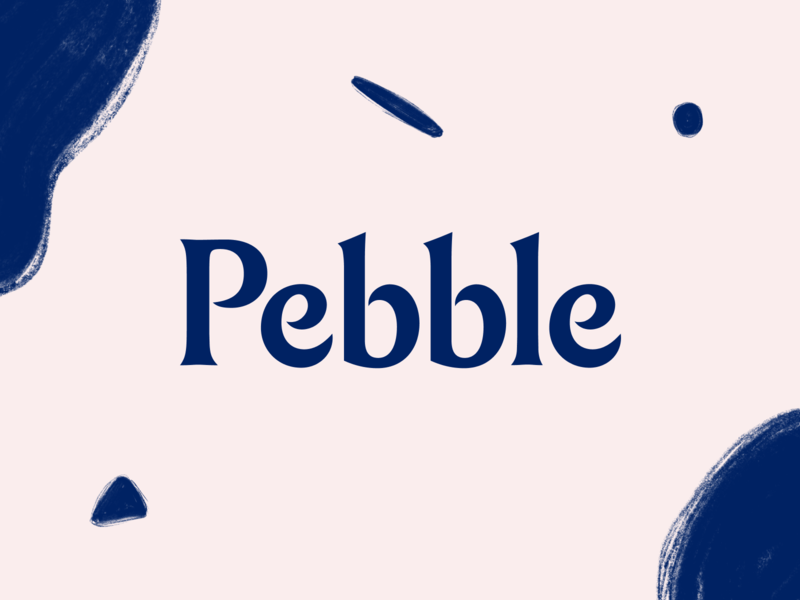 Pebble brand design brand studio subscription consumer d2c direct to consumer health pet modern wordmark logo typography brand brand identity branding illustration