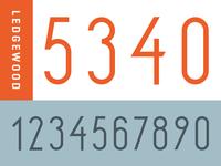 Ledgewood Numerals