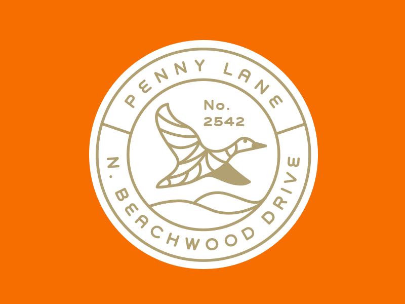 Penny Lane  weimaraner kyle anthony miller logo hunting dog line hunting dog tag engraved