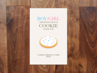 Gender Reveal Invite