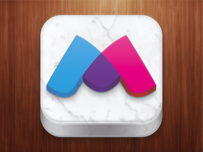 Matchmate Icon ios icon 3d apple iphone texture marble