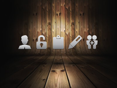 New Icons icons background grey wood app login user profile add signup button