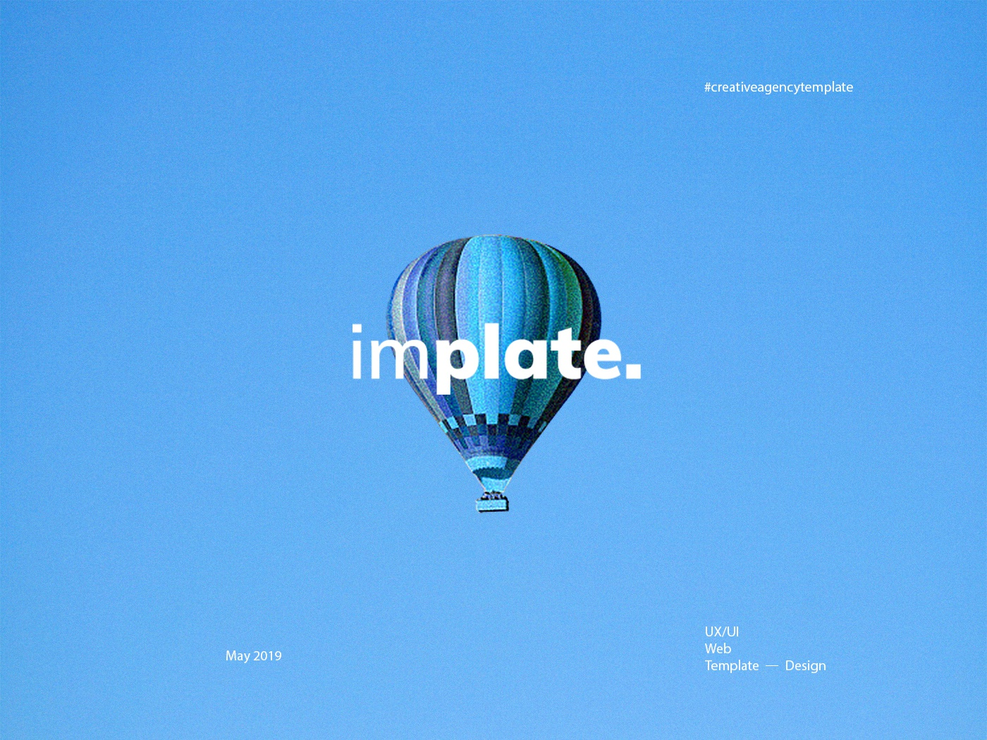 implate. — Creative Agency PSD Template psd template creative design website design interaction ui desgin template agency web ux ui