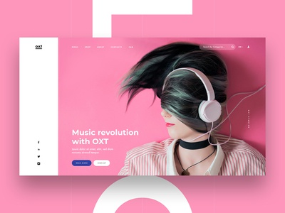 Music Platform Multipurpose UI Kit Concept