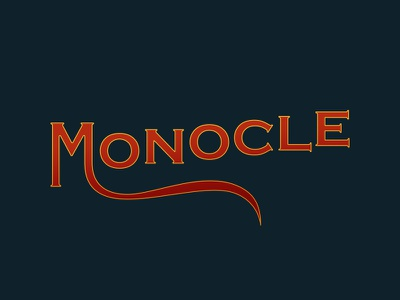 Monocle Type copperplate gradient monocle