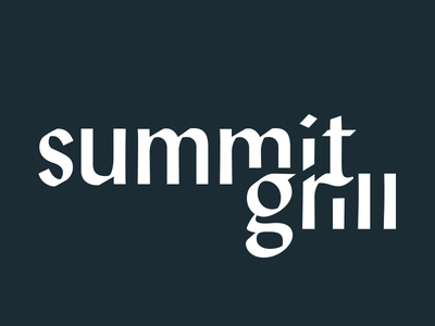 Grill Type blackletter logotype summit restaurant grill