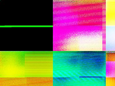 Photoshop Glitch bright neon noise rgb distortion glitch