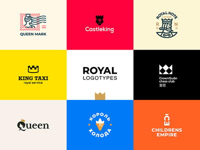 Royal Logotypes graphicdesign branding logoidentity logoideas logomaker queen king crown royal logomarks logomark logo