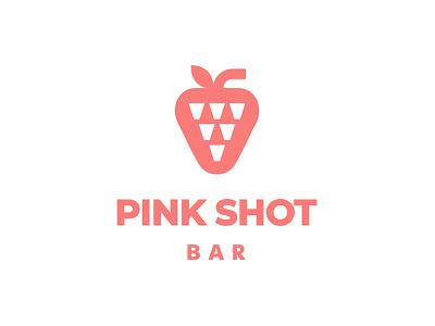 Pink shot logoideas logomark branding shot bar logodesign pink logotype logo
