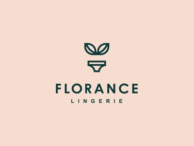 Florance care nature cotton flower pot brassiere leaf plants lingerie woman logomark graphicdesign branding branding design logotype logo