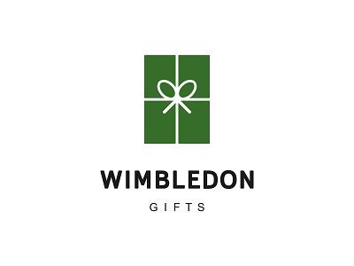 WIMBLEDON GIFTS sport racket logomark souvenirs bow box gift tennis wimbledon brand design branding logodesign logo logotype
