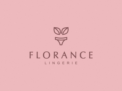 Florance beuty woman logoidea logomark identity branding logodesign logotype logo cotton nature bra flower pot leaf lingerie flower