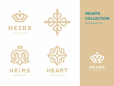Heirs baby children kids chicks birds line ornament heirs love jewelry heart crown graphicdesign logomark logodesign branding logotype logo