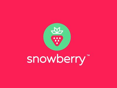 SnowBerry strawberry snow snowflake berry icon graphicdesign logomark logodesign branding logotype logo