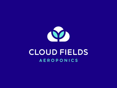 Cloud fields garden field aeroponics technology plant cloud cotton graphicdesign logomark logodesign branding logotype logo