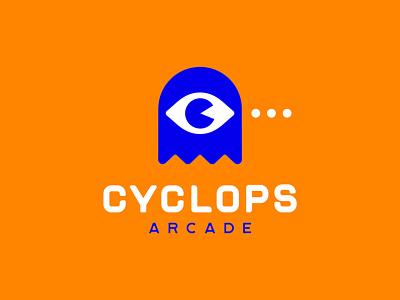 Cyclops game pupil eye arcade pacman cyclops monster design graphicdesign logomark logodesign branding logotype logo