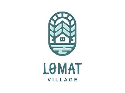 Lomat holidays vacation logo rest cottage village